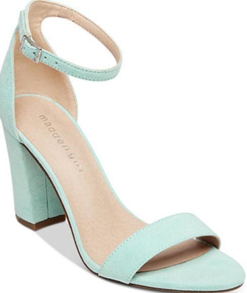 ed007801bdc Steve Madden suede mint green ankle strap heels